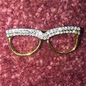 Eyeglasses Brooch